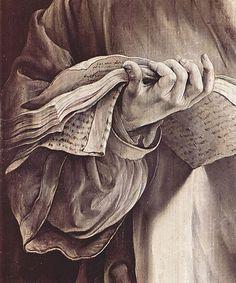 Reading codices / Leyendo códices (ilustración de Mathis Gothart Grünewald)