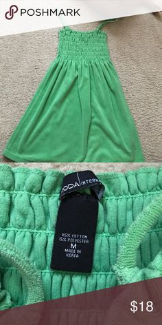 Green bAby doll top Size medium terry cloth feel very comfortable wore during pregnancy from Victoria's Secret Moda International Tops Tank Tops