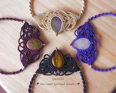 Macrame Boho Necklace 'DEVIKA'. Bohemian Ethnic Birthstone Chakra Yogi Meaningful Tribal Goddess Spiritual Jewelry. Festival Fashion Choker