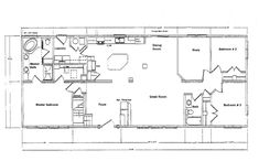 Mobile Residence Floor Plans According To Mobile Home Sizes