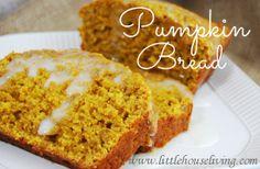Easy Pumpkin Bread Recipe #pumpkin #pumpkinbread #homemade
