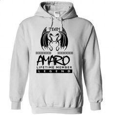 TO0804 Team AMARO Lifetime Member Legend - #shirt design #cute tshirt. GET YOURS => https://www.sunfrog.com/Names/TO0804-Team-AMARO-Lifetime-Member-Legend-jfqlduelwt-White-40254648-Hoodie.html?68278