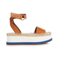 dfea62f1c21a Stella McCartney Espadrille platform sandals ( 280) ❤ liked on Polyvore  featuring shoes