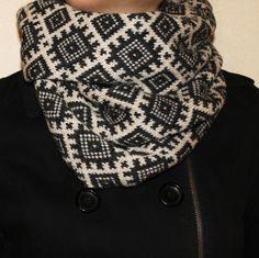 Scandinavian Latvian design infinity scarf interesting by AnRita