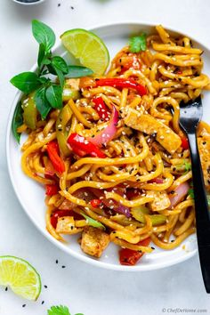 Easy Stir Fry with Udon Noodles Tofu and Vegetable Stir Fry with Udon Noodles for Friday dinner! Just 20 Minutes from Kitchen to Dinner table. Vegan Stir Fry Noodles, Vegetarian Stir Fry, Vegetarian Dinners, Vegetarian Recipes, Mix Vegetable Recipe, Easy Vegetable Recipes, Vegetable Stir Fry, Noodle Recipes, Cooking