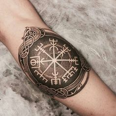 A pristine blackwork vegvisir by Yogesh Waghmare (IG—__yogi___). A pristine blackwork vegvisir by Yogesh Waghmare (IG—__yogi___). A pristine blackwork vegvisir by Yogesh Waghmare (IG—__yogi___). Dreieckiges Tattoos, Tattoos Skull, Celtic Tattoos, Body Art Tattoos, Sleeve Tattoos, Viking Tattoo Sleeve, Watch Tattoos, Rune Tattoo, Norse Tattoo