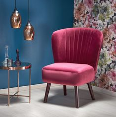 Fotoliu tapitat Lanister Burgundy #homedecor #interiordesign #inspiration #glamour #retro #burgundy #livingroomdecor #decoration Interior S, Interior Design, Lounge, Elegant, Accent Chairs, Burgundy, Art Deco, Glamour, Living Room