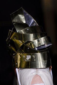 Comme des Garçons - wacky tin can headpiece