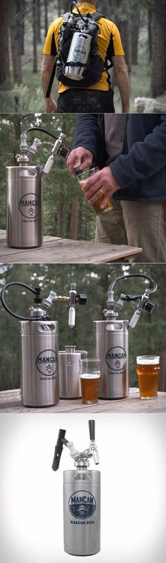 Serious Scuba divers, dive with the Mancan! ManCan 128 Flex Kit with Perfect Pour Regulator Beer Brewing, Home Brewing, Brewing Equipment, How To Make Beer, Beer Lovers, Cool Items, Guinness, Craft Beer, Brewery