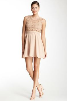 Crocheted Top A-Line Dress by Wow Couture on @HauteLook