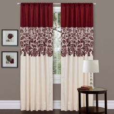 Red Faux Silk 84-inch Estate Garden Curtain Panel | Overstock™ Shopping - Great Deals on Lush Decor Curtains