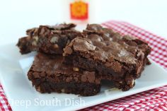 Our favorite family recipe for years, this homemade brownie recipe produces a chewy, fudgy brownie with a crusty top - just as a brownie should be. Just be sure to do everything in order and make no substitutions!