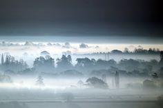 Aber oft. Und Nebel legt sich auch gerne über Felder und Küsten. Dabei kann...