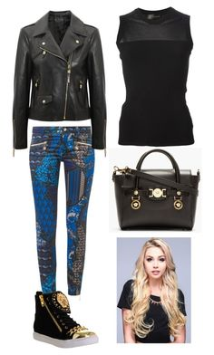 """Untitled #147"" by iloveharrystyles2 ❤ liked on Polyvore featuring Versace and Jeffrey Campbell"