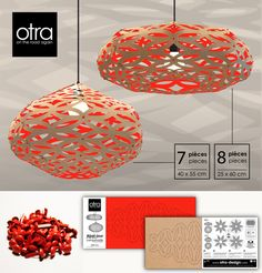 Lampshade CRAFT is made in Quebec from cardboard recycled 100 %. http://otra-design.com/lampshadecraft/lampshadecraft