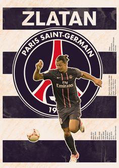 The Zlatan/PSG poster #soccer