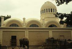 Older version of the Cincinnati Zoo Elephant House