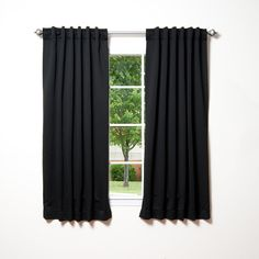 Best Home Fashion Thermal Insulated Blackout Curtains - Back Tab/ Rod Pocket - Black - 52'W x 54'L - (Set of 2 Panels) -- You can get additional details at the image link. (This is an affiliate link and I receive a commission for the sales)