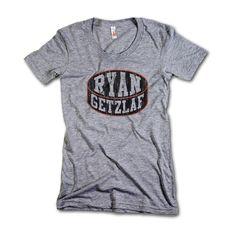 Ryan Getzlaf NHLPA Officially Licensed Anaheim Women's Scoop Neck T-shirt S-XL Ryan Getzlaf Puck K