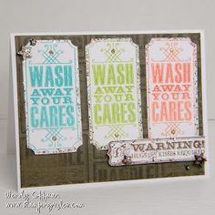 Love the bright colors of ink. Gotta change out that brown background though. Overall cute design from Stamping Rules!: CTMH Stamp of the Month Blog Hop