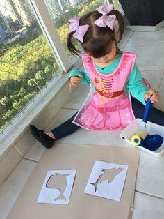 Pintando usando stencil