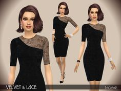 The Sims Resource: Velvet & Lace by Paogae • Sims 4 Downloads
