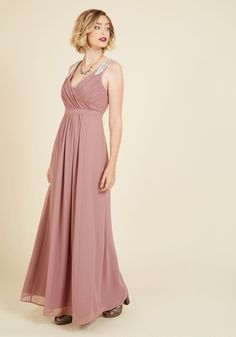 Affluent in Allure Maxi Dress. Pairing your magnetic personality with this mauve maxi dress, your being is a culmination of charm! #purple #modcloth