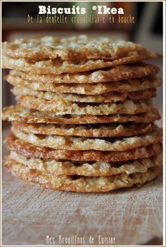Crunchy oatmeal cookies like at IKEA®! Sweet Recipes, Cake Recipes, Snack Recipes, Dessert Recipes, Cooking Recipes, Snacks, Chocolate Filling, Homemade Chocolate, Biscuit Cookies
