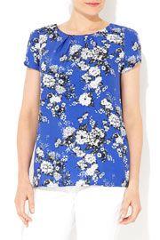 Blue Floral Shell  #WallisFashion