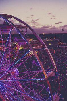 :) purple sunset ferris wheel