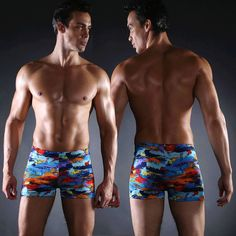 6d31a29a6e901 6.6AUD - Cool Summer Mens Swimwear Swimming Trunks Swim Boxer Shorts  Printing Beach Pants