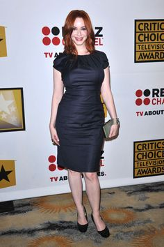 Jon Hamm and Christina Hendricks at Critics Choice TV Awards