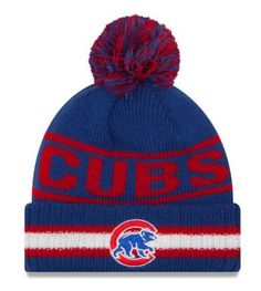 9d862f9d9e8 Chicago Cubs Youth Toasty Cover Cuffed Knit Hat with Pom by New Era ...