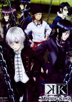 Munakata, Yukari, Kuroh, Shiro, Saruhiko and Misaki. K Missing Kings. (K Project) #anime #movie
