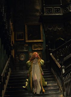 "mademoisellelapiquante: "" Mia Wasikowska as Edith Cushing in Crimson Peak - 2015 "" Gothic Horror, Gothic Art, Victorian Gothic, Dark Fantasy, Fantasy Art, Half Elf, Crimson Peak, Gothic Aesthetic, Arte Obscura"
