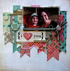 Great layout to use some scraps! :) Love this idea!~ I'm loving all of your scrapbook pins, Kerrie! Keep it up!