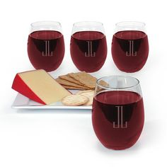 Monogrammed Trendsetter Stemless Wine Glass Set