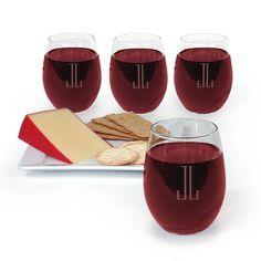 Monogrammed Trendsetter Stemless Wine Glass Set