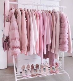 Pretty in pink Pink aesthetic rack