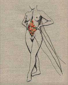 Andrea B. Farina, el arte de dibujar con hilos - Esto no es arte