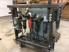 welding table plans or ideas Welding Cart, Welding Jobs, Welding Table, Metal Welding, Welding Projects, Diy Welding, Metal Projects, Welding Ideas, Diy Projects