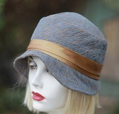 2c2b55ec95696 1920s Flapper Cloche Hat 1920s Vintage Flapper Style Rust | Etsy ...