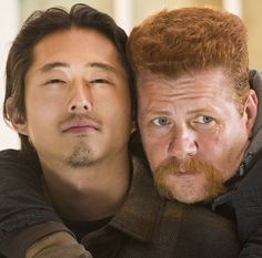 The Walking Dead, Steven and Michael behind the scenes.