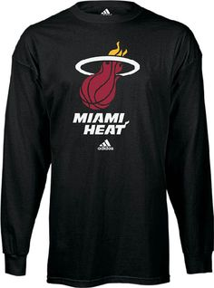Made for a Heat fan this Miami Heat Long Sleeve Primary Logo Long Sleeve T  Shirt by Adidas features screening on the front Heat NBA logo to show off  your ... 74c63054a