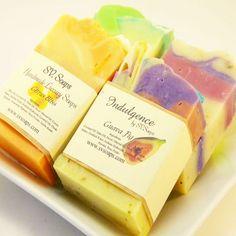 Guest Size Soap Sampler by SV Soaps ~ Etsy listing at https://www.etsy.com/listing/88229273/guest-size-soap-sampler-set-of-6-half