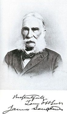 James Longstreet in later life, affecting the sideburns of his opponent at Fredericksburg and Knoxville.