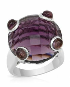 Cubic Zirconia Ring By Designer P&P Silver 30.80 ctw - Rings - Jewelry at Viomart.com