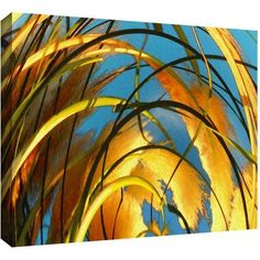Dean Uhlinger Polar Pampas Gallery-Wrapped Canvas, Size: 24 x 32, Brown