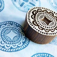 hand-carved wooden block for printing