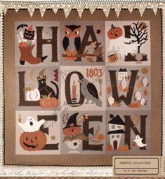 "Vintage fall Quilt PATTERN ""Merrie Halloween"" by Buttermilk Basin"